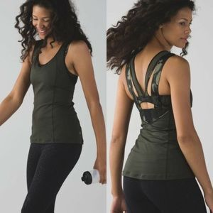 Lululemon Super Sport Tank Gator Green Biggie Fly